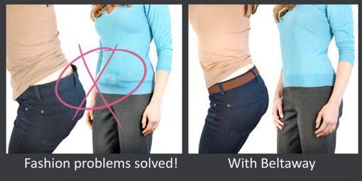 Beltaway solves back gap and belt bulge