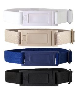 Beltaway Narrow in four colors: Black, Navy, Sand, and White