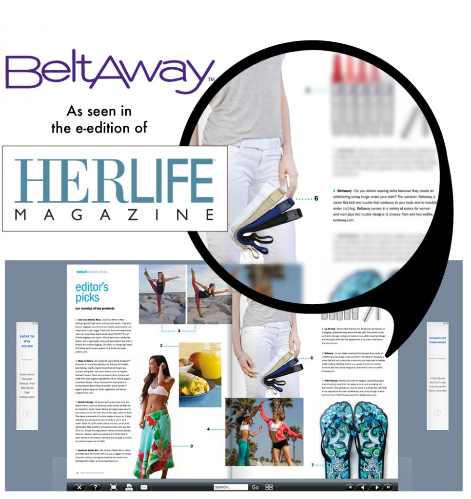 Beltaway as seen in HERLIFE Magazine